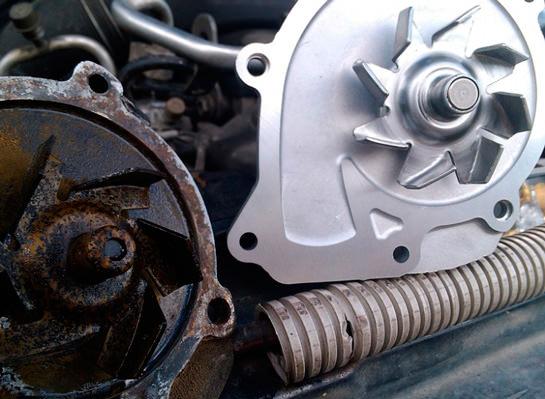 Замена помпы двигателя